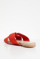 Superbalist - Crossover espadrille sandal - orange