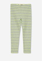 Cotton On - Huggie tights - grey & yellow