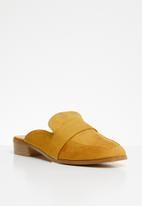 Superbalist - Faux suede mule - yellow