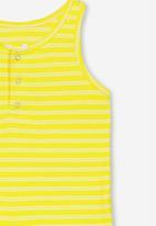 Cotton On - Tilley tank - yellow & white