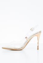 Miss Black - Gaines heel - gold