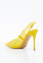 Miss Black - Gaines heel - yellow