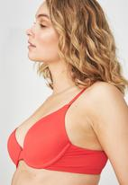 Cotton On - Everyday T-shirt bra - orange