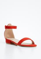 Superbalist - Lia barely there sandal - red