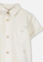 Cotton On - Zac short sleeve shirt - white