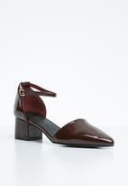 STYLE REPUBLIC - Strappy pointy heel - burgundy