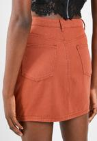 Missguided - A line denim mini skirt - brown