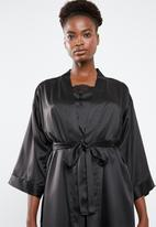 Superbalist - Contrast robe - black