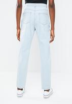 Missguided - Riot high rise double popper mom jean - blue