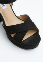 Madison® - Ankle strap heels - black