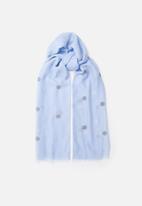 Joy Collectables - Polka dot scarf - blue