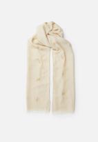 Joy Collectables - Printed detail scarf - beige