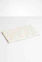 Joy Collectables - Printed detail scarf - white & gold