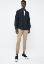 New Look - Long sleeve shirt with check pattern - green & blue
