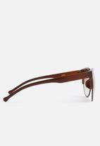 Superbalist - Jasmine oversized cat-eye sunglasses - brown
