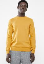 New Look - Upspec crew neck long sleeve knit - yellow