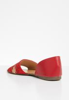 Jada - Embroidered sandals - red