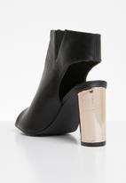 Jada - Metallic detail heels - black