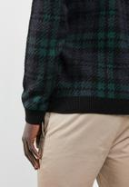 New Look - Check crew neck knitted jumper - multi