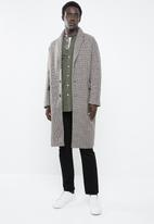 New Look - Check overcoat - multi