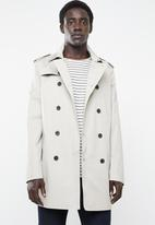 New Look - Mac coat - off white