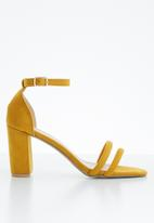 Superbalist - Ivy ankle strap heels - yellow