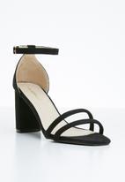 Superbalist - Ivy ankle strap heel - black