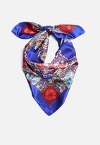 Joy Collectables - Paisley print scarf - navy