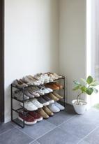 Yamazaki - Expandable 3 tier shoe rack - black