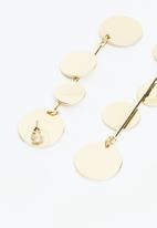 Superbalist - Multi disc earrings - gold