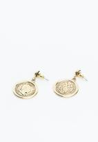 Superbalist - Vintage coin earrings - gold