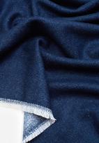 MANGO - Contrast scarf - navy