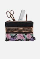 Typo - Double archer pencil case - multi