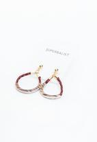Superbalist - Kristen oval earrings - red/brown
