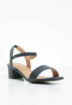 STYLE REPUBLIC - Strappy sandal heels - navy