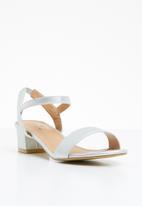 STYLE REPUBLIC - Strappy sandal heels - silver