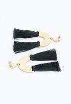 Superbalist - Molly tassel earrings - black