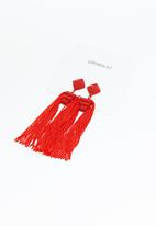 Superbalist - Sienna tassel earrings - red