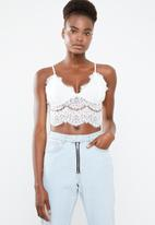 Missguided - White corded lace cami - white