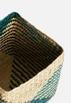 Sixth Floor - Delta storage basket set of 2 - green