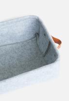 Sixth Floor - Felt storage basket set of 2 - grey