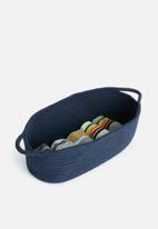 Sixth Floor - Cotton rope storage basket - navy