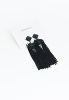 Superbalist - Sienna tassel earrings - black