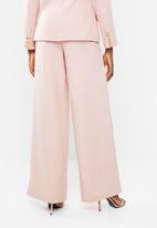 Missguided - Tailored wide leg - pink