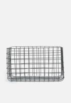 Sixth Floor - Finch wire basket - black