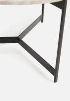 Sixth Floor - Helston marble table - white & black