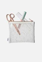 Typo - Clear it pencil case - white