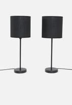 Sixth Floor - Upright table lamp set of 2 - full black