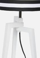 Sixth Floor - Ozai lamp - black & white