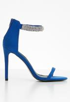 MHNY by Madison - Embellished ankle strap heels - blue